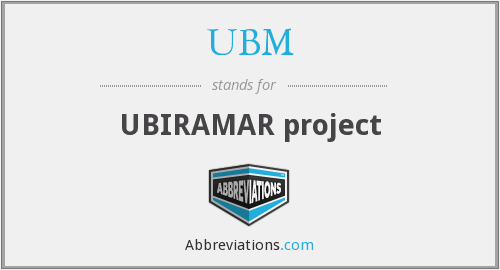 UBM - UBIRAMAR project