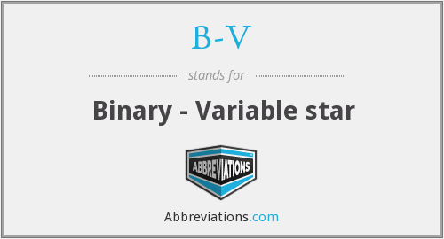 What does B-V stand for?