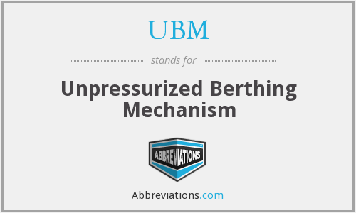 UBM - Unpressurized Berthing Mechanism