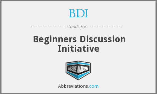 BDI - Beginners Discussion Initiative