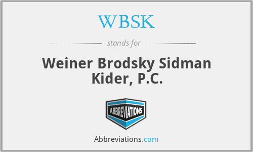 WBSK - Weiner Brodsky Sidman Kider, P.C.