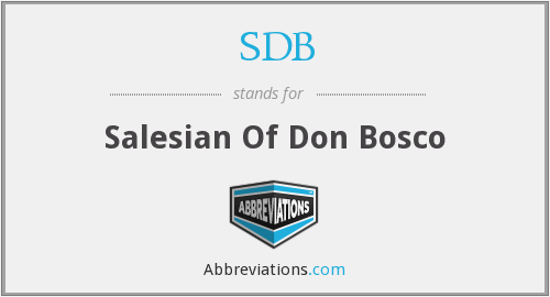 SDB - Salesian Of Don Bosco