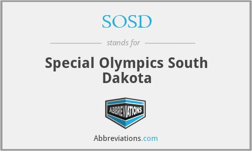 SOSD - Special Olympics South Dakota