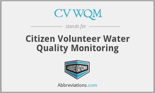 CVWQM - Citizen Volunteer Water Quality Monitoring