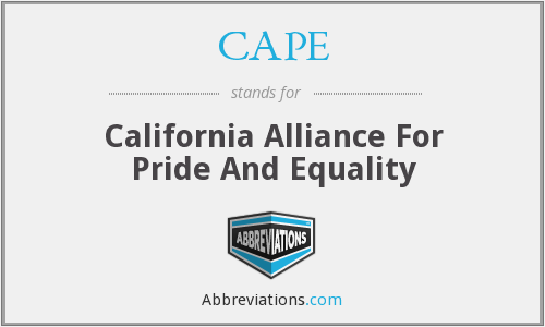 CAPE - California Alliance For Pride And Equality