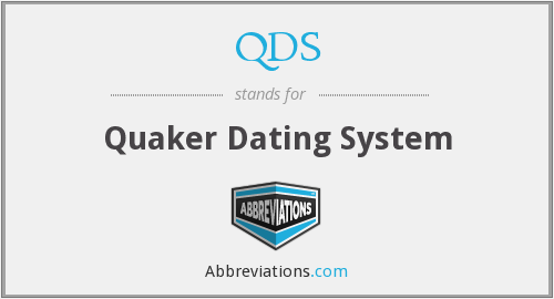 QDS - Quaker Dating System