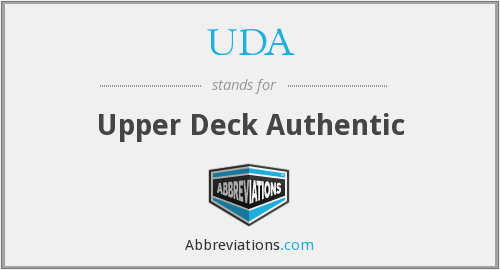 UDA - Upper Deck Authentic
