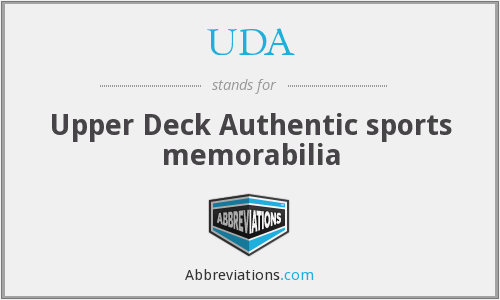 UDA - Upper Deck Authentic sports memorabilia