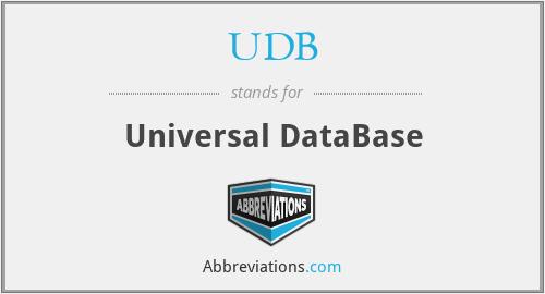 UDB - Universal DataBase