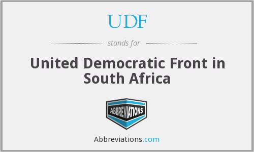 UDF - United Democratic Front in South Africa