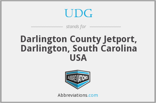 UDG - Darlington County Jetport, Darlington, South Carolina USA