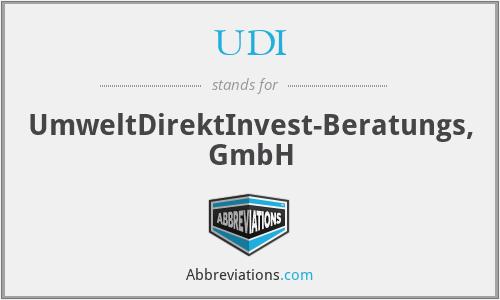 UDI - UmweltDirektInvest-Beratungs, GmbH