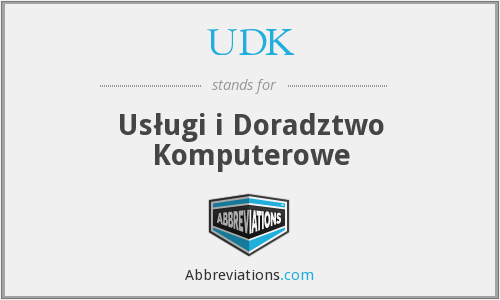 What does UDK stand for?