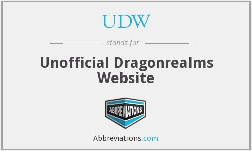 UDW - Unofficial Dragonrealms Website