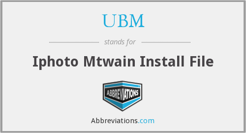 UBM - Iphoto Mtwain Install File