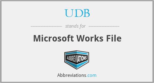 UDB - Microsoft Works File