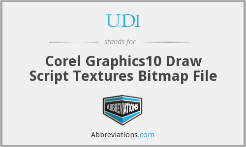 UDI - Corel Graphics10 Draw Script Textures Bitmap File