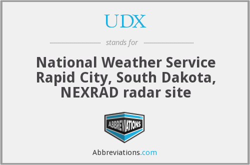 UDX - National Weather Service Rapid City, South Dakota, NEXRAD radar site