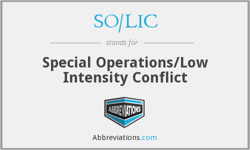 SO/LIC - Special Operations/Low Intensity Conflict