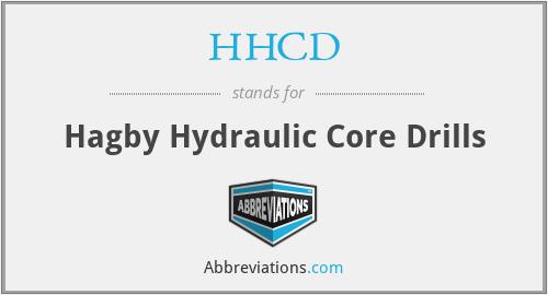 HHCD - Hagby Hydraulic Core Drills