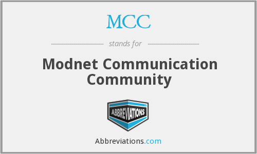 MCC - Modnet Communication Community