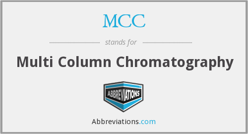 MCC - Multi Column Chromatography