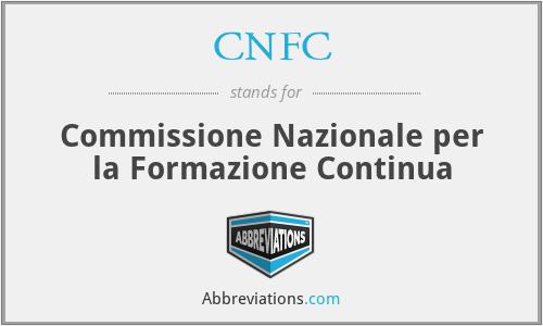 CNFC - Commissione Nazionale per la Formazione Continua