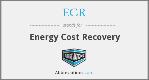 ECR - Energy Cost Recovery