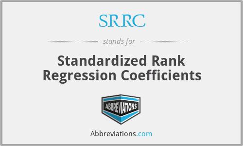 SRRC - Standardized Rank Regression Coefficients