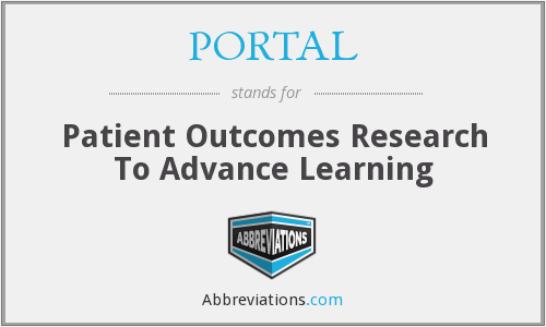 PORTAL - Patient Outcomes Research To Advance Learning