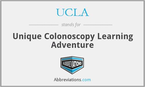 UCLA - Unique Colonoscopy Learning Adventure