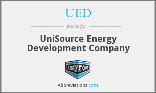 UED - UniSource Energy Development Company