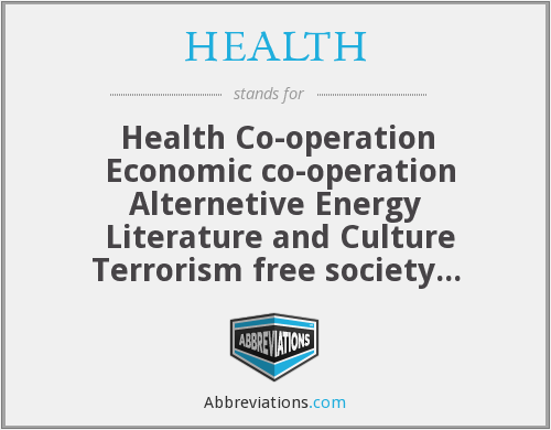 HEALTH - Health Co-operation  Economic co-operation Alternetive Energy  Literature and Culture Terrorism free society  Humanitarian Co-operation