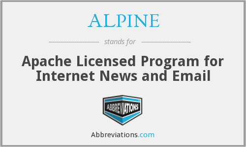 ALPINE - Apache Licensed Program for Internet News and Email