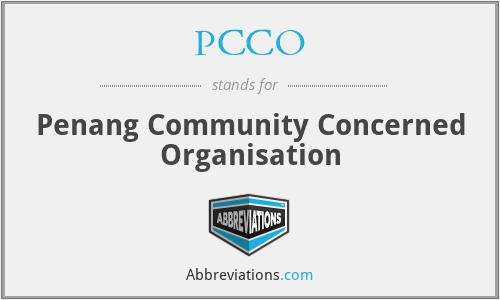PCCO - Penang Community Concerned Organisation