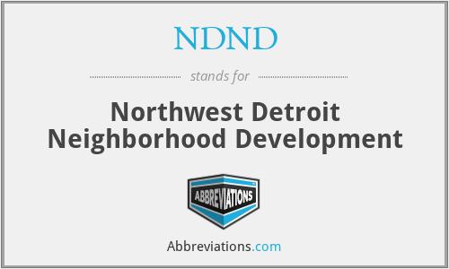NDND - Northwest Detroit Neighborhood Development