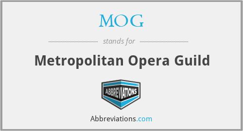 MOG - Metropolitan Opera Guild
