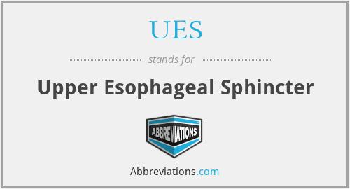 UES - Upper Esophageal Sphincter