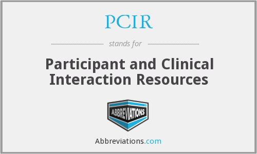 PCIR - Participant and Clinical Interaction Resources