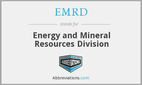 EMRD - Energy and Mineral Resources Division
