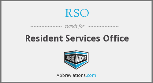 RSO - Resident Services Office