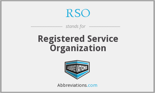 RSO - Registered Service Organization