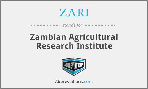 ZARI - Zambian Agricultural Research Institute