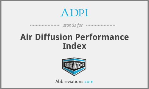 ADPI - Air Diffusion Performance Index
