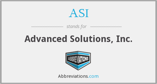 ASI - Advanced Solutions, Inc.