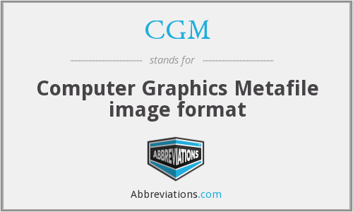 CGM - Computer Graphics Metafile image format