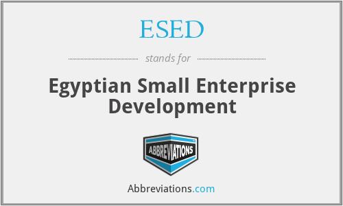 ESED - Egyptian Small Enterprise Development