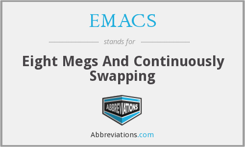EMACS - Eight Megs And Continuously Swapping