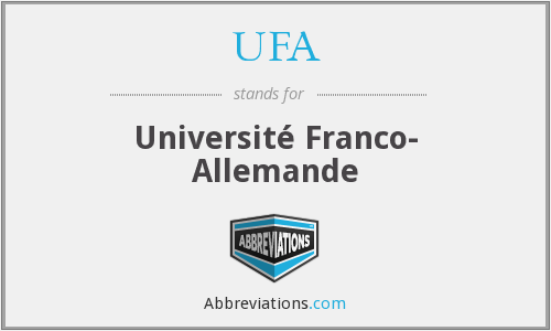 UFA - Université Franco- Allemande