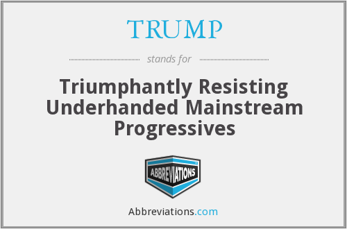 What does triumphantly stand for?